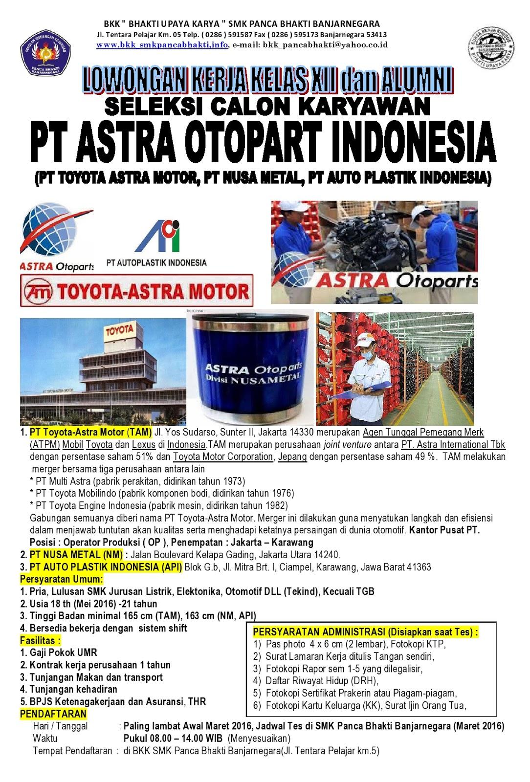 Gabungan semuanya diberi nama pt toyota astra motor merger ini dilakukan guna menyatukan langkah dan efisiensi dalam menjawab tuntutan akan kualitas serta