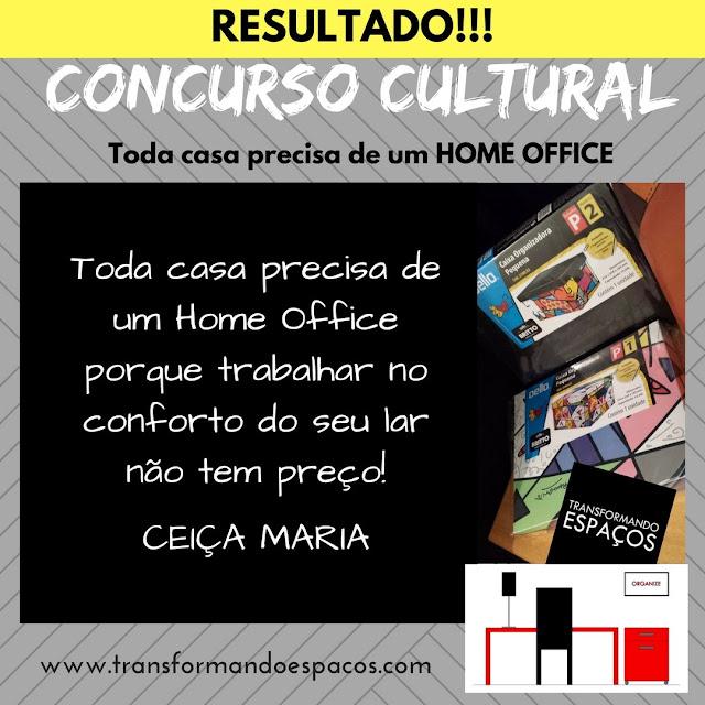 Resultado do Concurso Cultural # Toda casa precisa de um Home Office