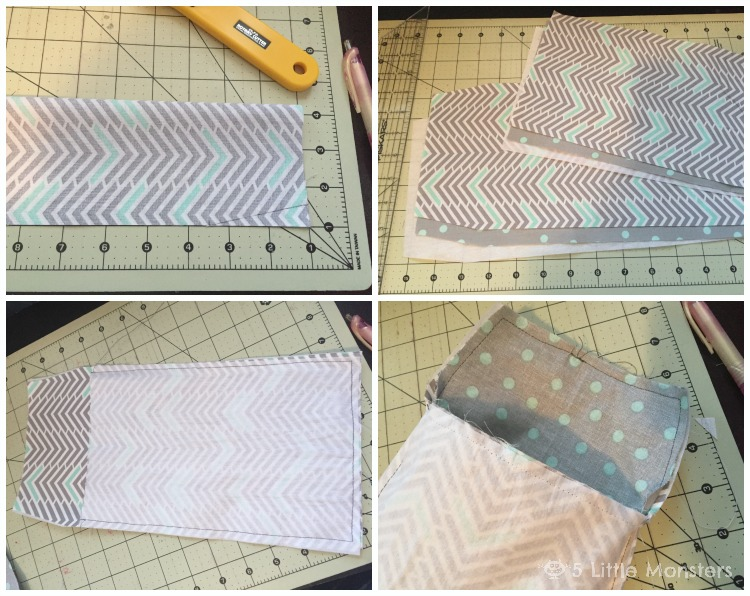 how to make diaper clutch