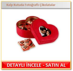 Kalp Kutuda Fotoğraflı Çikolatalar