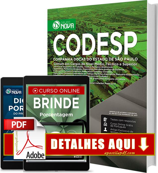 Apostila CODESP 2017 Comum a Todos os Cargos Impressa