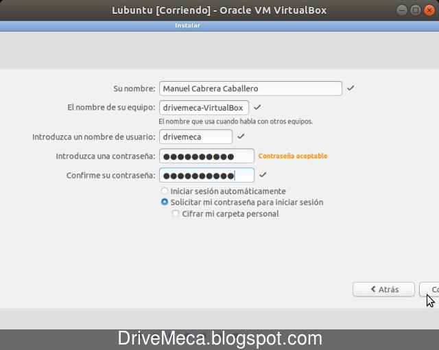 Creamos una cuenta de usuario para Lubuntu