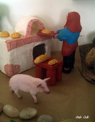 panadero en su horno