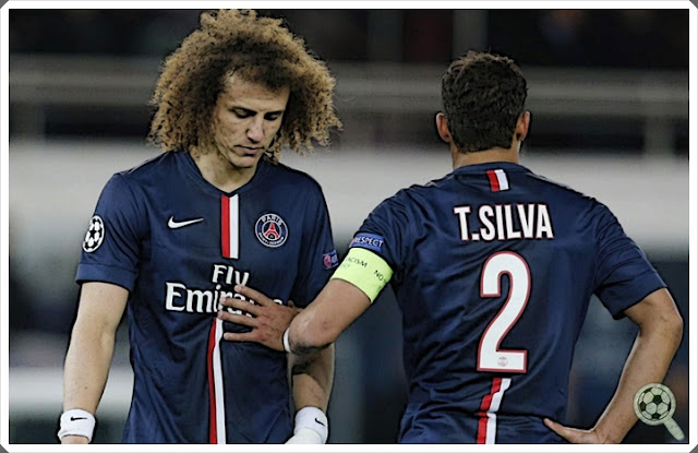 Thiago Silva David Luiz PSG