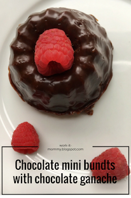 mini chocolate bundts with chocolate ganache FFAY #6