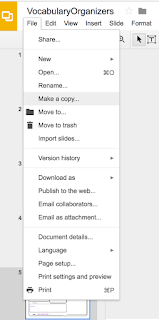 Making a copy of a file in Google Classroom™  www.traceeorman.com