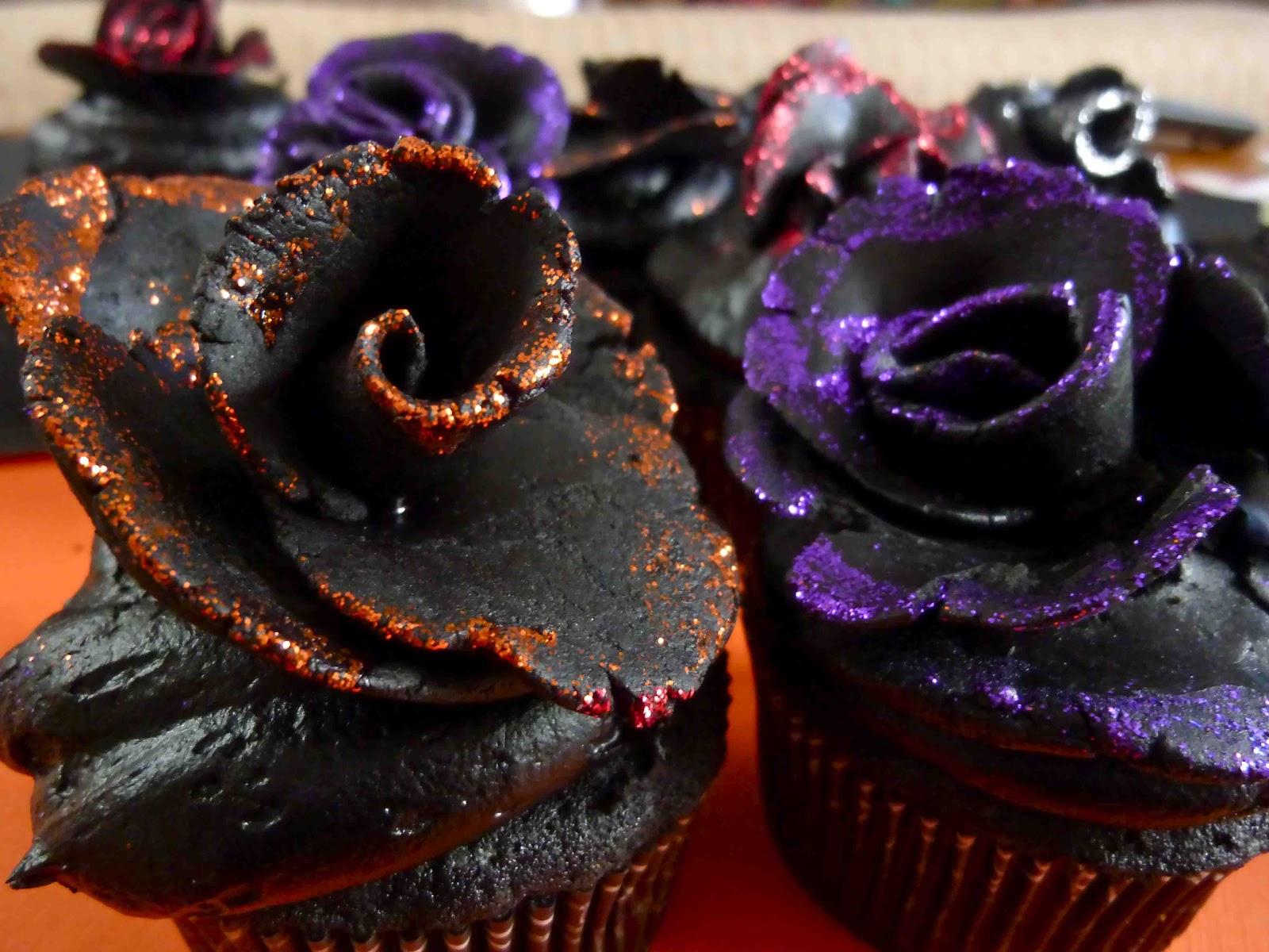 Black Velvet Rose Cupcakes For Halloween Diary Of A Mad