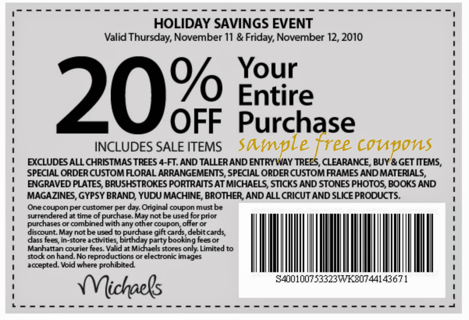 Michaels Craft Online Promo Code