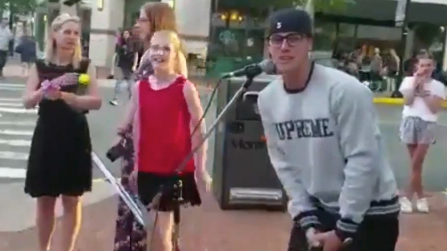 Justin Bieber CRASHES Street Performance new jersey