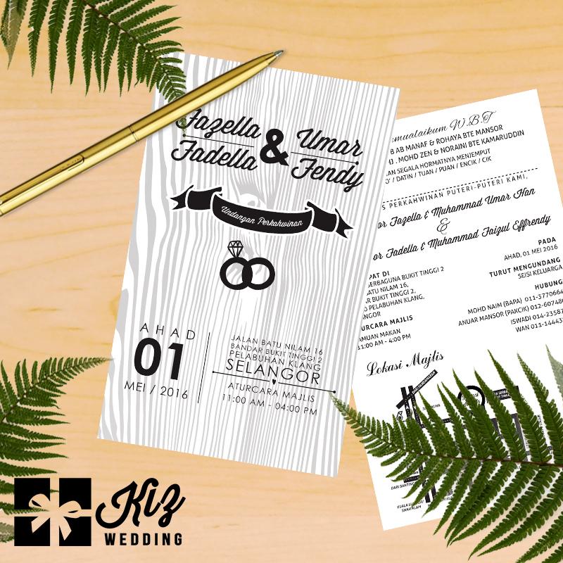 Kiz Wedding Contoh Design Kad Kahwin Terbaru Untuk 2 Pasangan Pengantin Serentak
