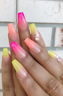 Searching for a Coffin Nails Art design which will make your coffin nails stand out from  36 Vibrant Coffin Nails Art Designs Ideas 2019 To Copy This Summer