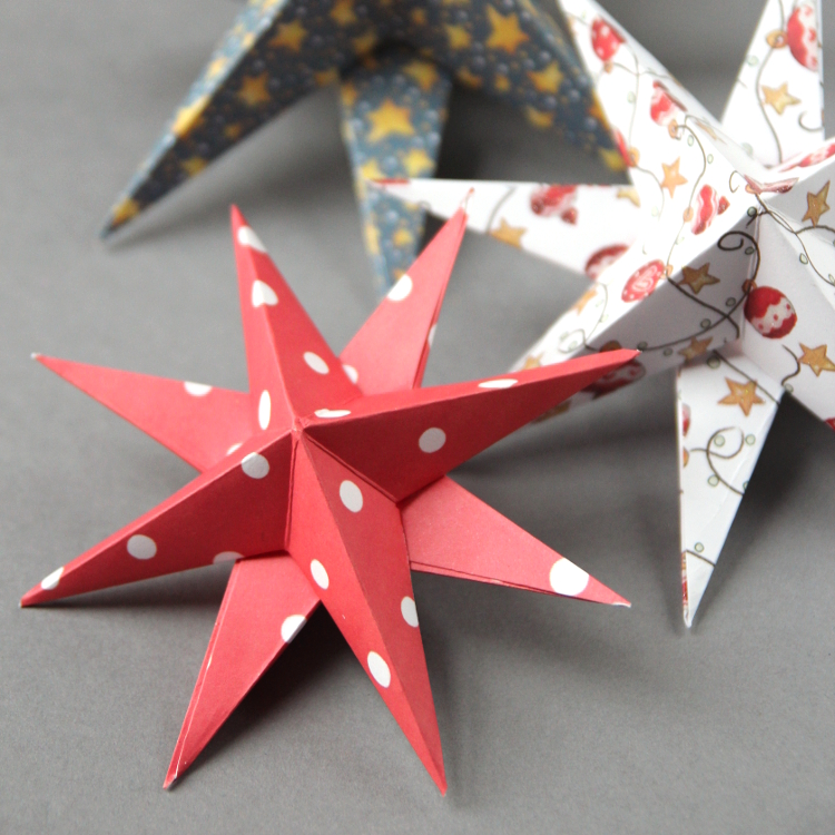 Diy d paper star christmas decorations gathering beauty