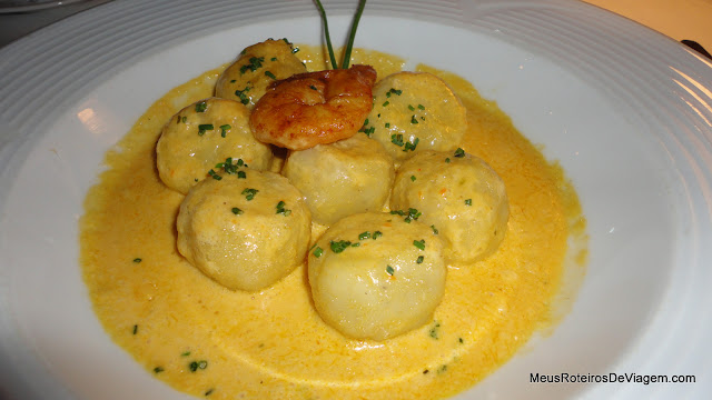 Nhoque no Restaurante Rara Avis - Montevidéu, Uruguai