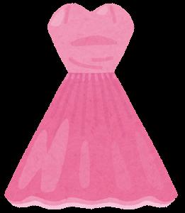 カラードレスのイラスト(ピンク)