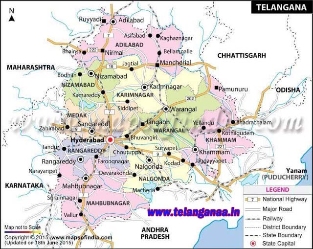 Telangana New Districts Revenue Divisions Mandals Villages List Download