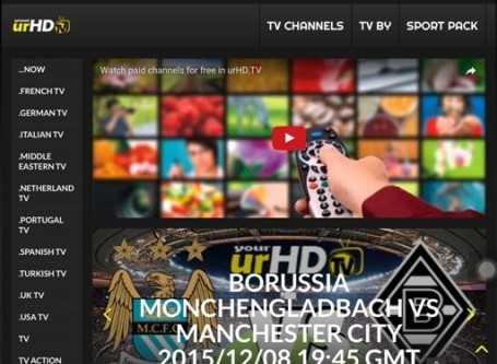 Sito streaming in HD di film, canali TV, TV satellitare, calcio e Sport