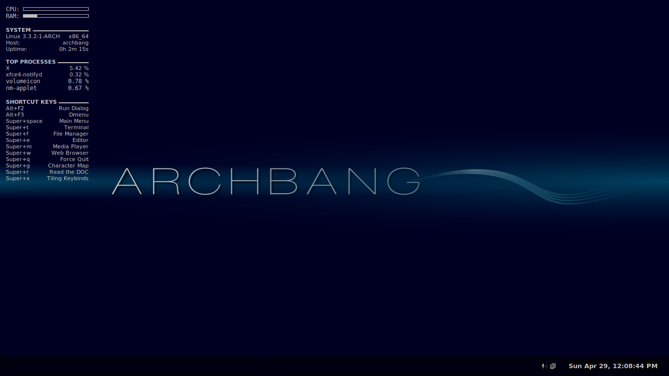 Linux, BSD, and everything else   : From ArchBang to SlackBang