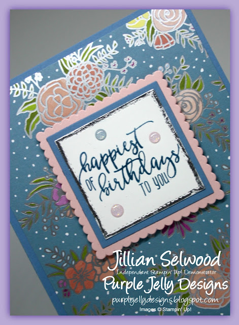 Picture Perfect Birthday stamp set for a Fancy Fold card