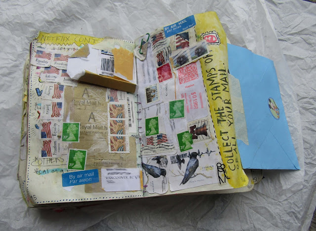 Wreck this Journal -  Collect your stamps from mail