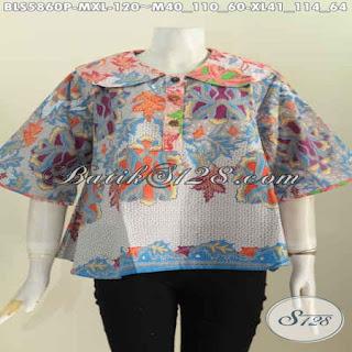 blouse batik kerja modern