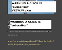 "WARNING A CLICK IS ""subscriber"""