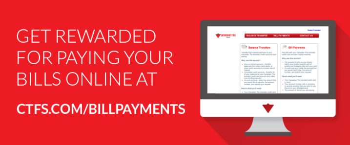 Canadian Tire Mastercard >> Canadian Rewards Pay Your Bills Online Using Canadian Tire Options