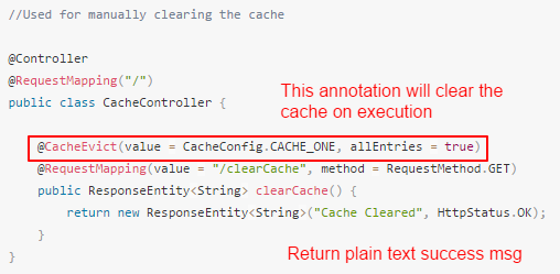 Add an endpoint to clear the cache