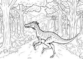 Velociraptor Coloring Sheet