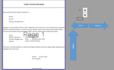 Aplikasi Cetak Persyaratan BSM PIP Format Excel