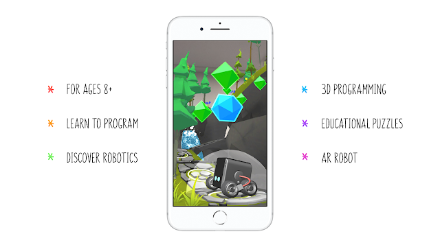 Swiss RosieReality AR iPhone App let kids get interested in robotics & programming