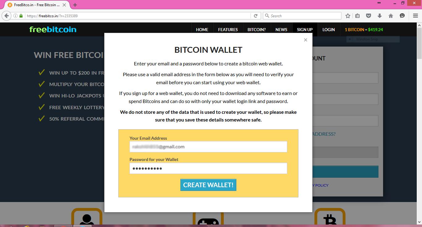 how to create new bitcoin address