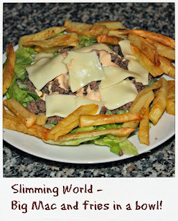 Big Mac in a bowl, slimming world style