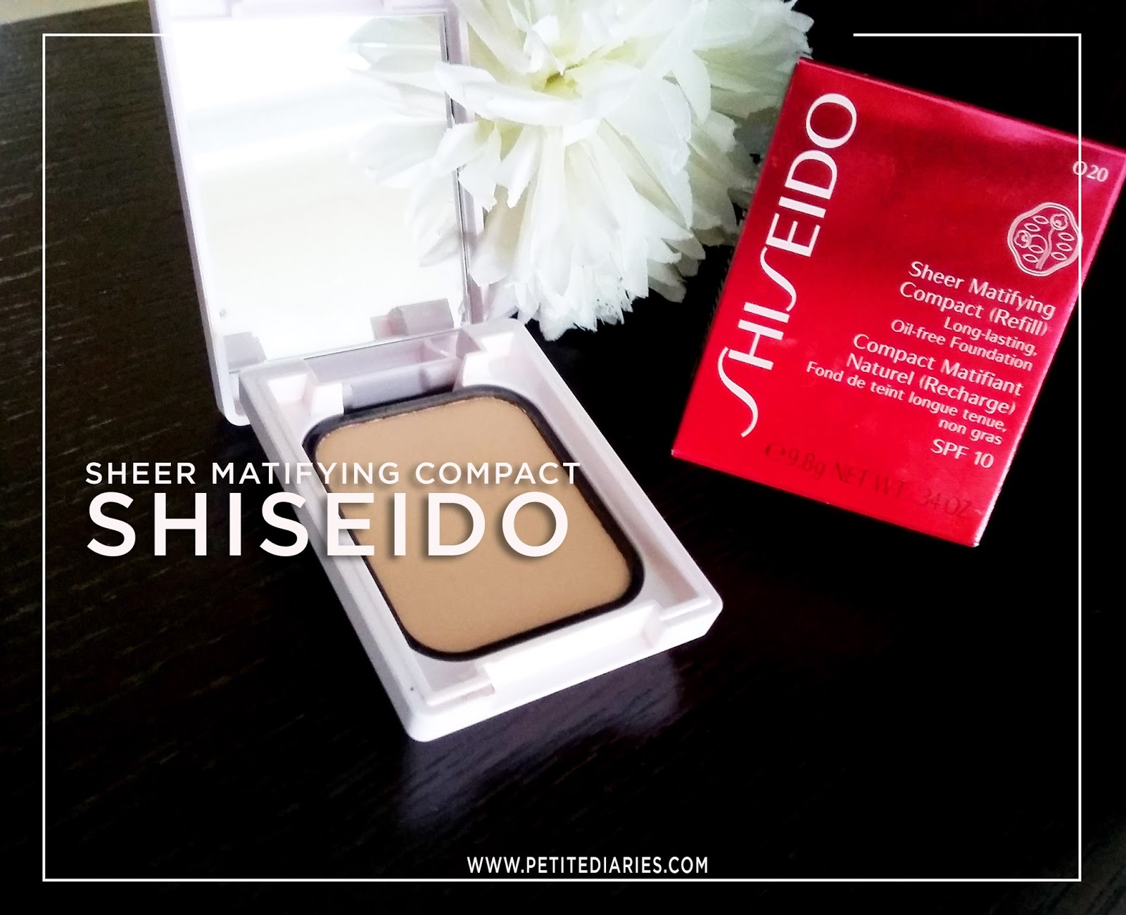 review shiseido sheer matifying compact foundation