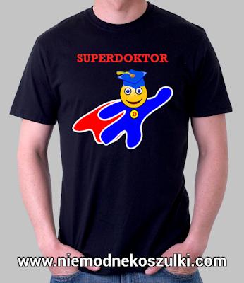 koszulka Super doktor prezent na obronę doktoratu