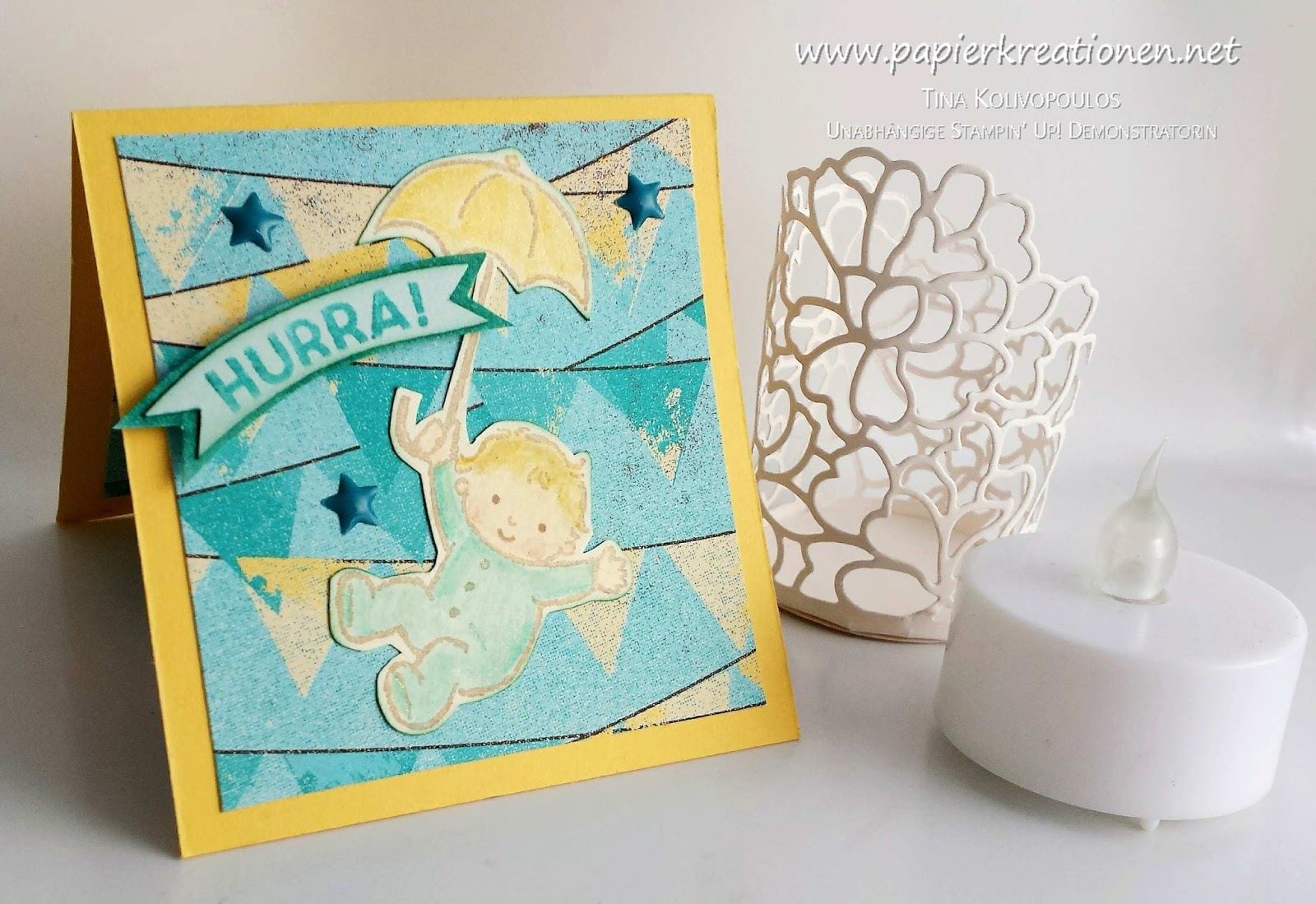 Stampin Up Karten Groesse Papierkreationen Mini Pop Up Twist Baby Karte