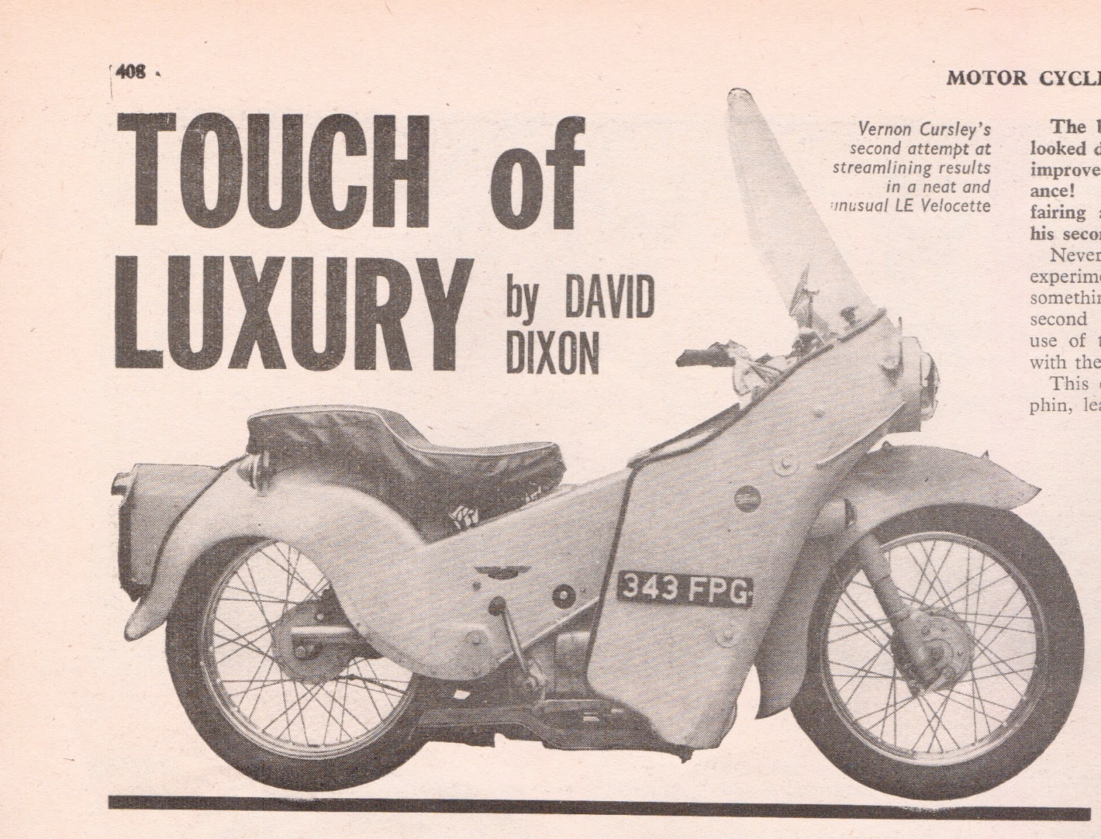 Something for the museum: Wooden Matchless G50