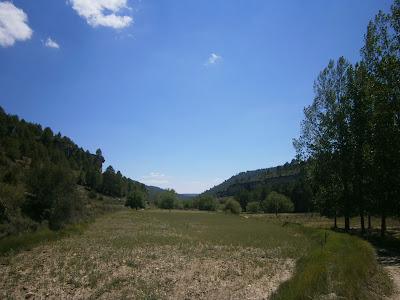 Valle fluvial del cuaternario aguas arriba de la Hoz del río Tejadillos (Cuenca)