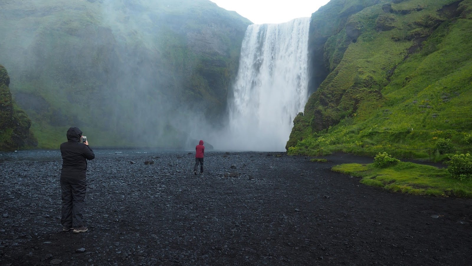 Skógar, wodospad Skógar, południowa Islandia, trekking Islandia
