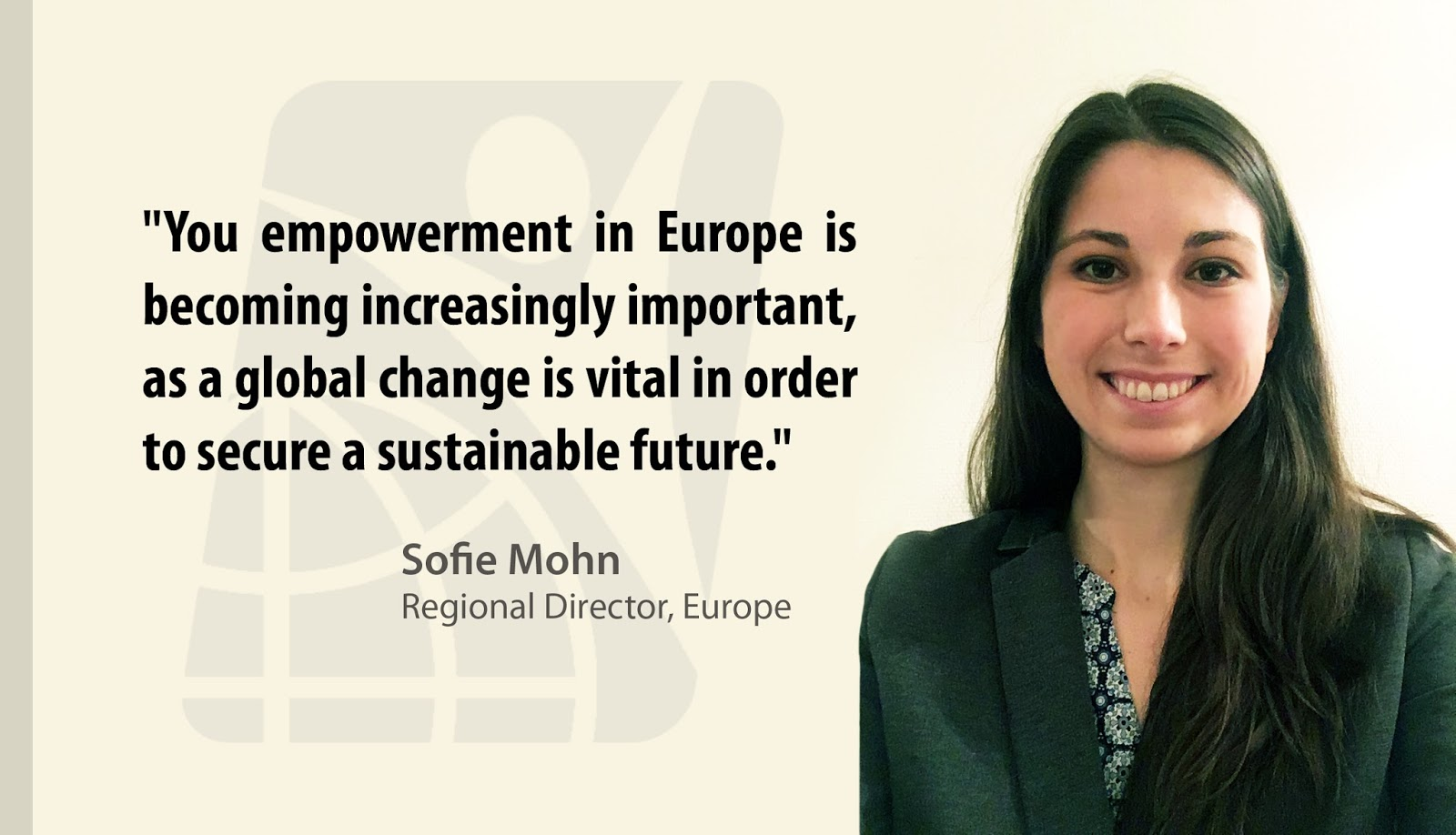 Sofie Mohn, IYF Regional Director, Europe