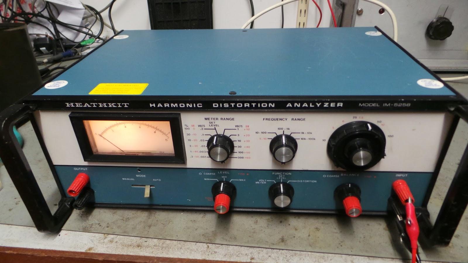 Doz' Blog: Vintage test gear - Heathkit Harmonic Distortion Analyzer