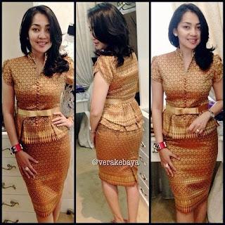 model rok batik pendek 2018