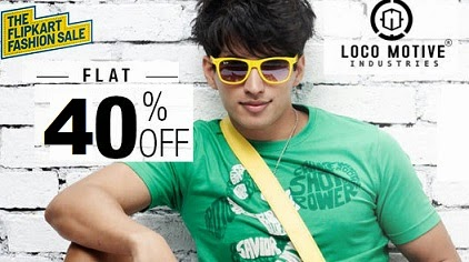 Flat 50% Discount on Locomotive Clothing at Flipkart