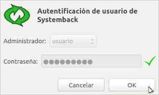 Autentificacion Systemback