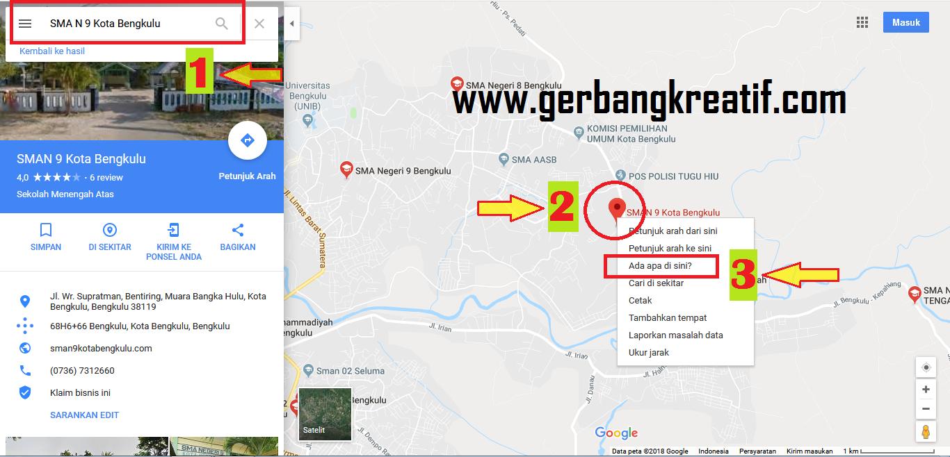 mengetahui titik kordinat di google maps