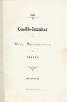Otto Wesendonck: Gemälde-Sammlung. Katalog A mit Anhang. 1888