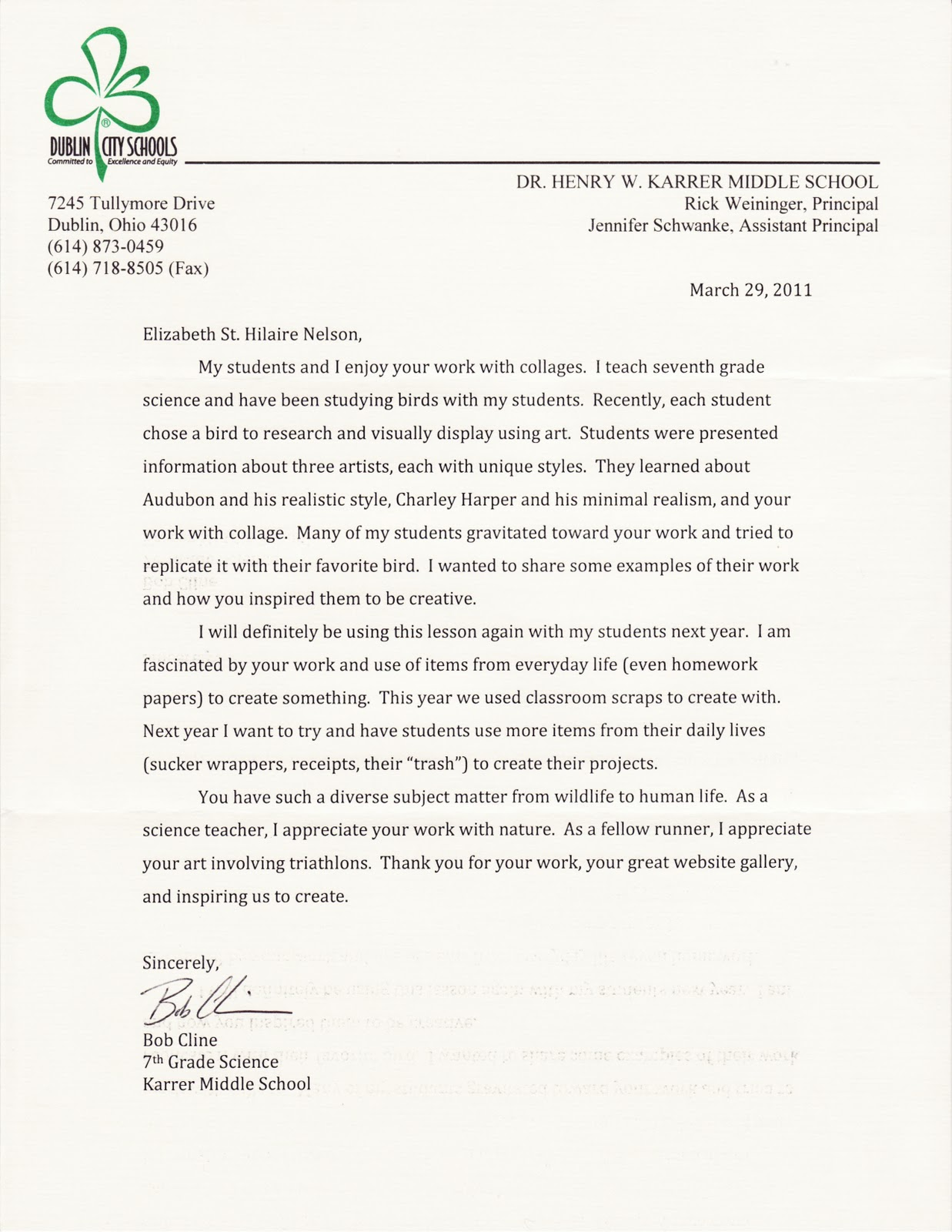 Clinical Psychology Letter Of Recommendation Sample