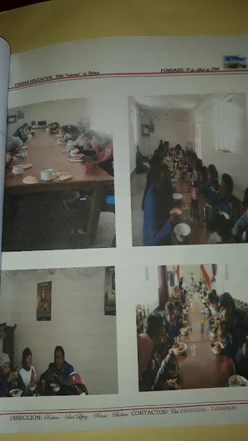 Speisung der Schüler in Realve Bolivien