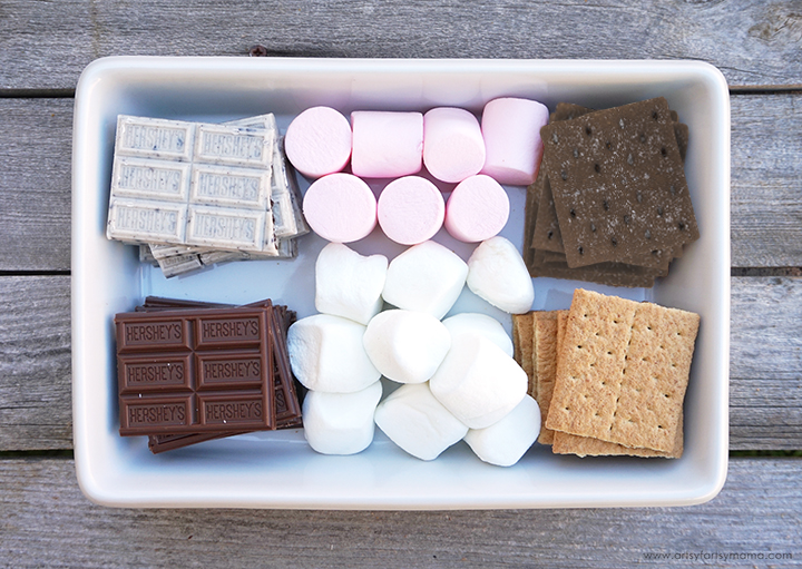 DIY Mini Fire Pit for S'mores with 3 S'more Flavor Combinations!