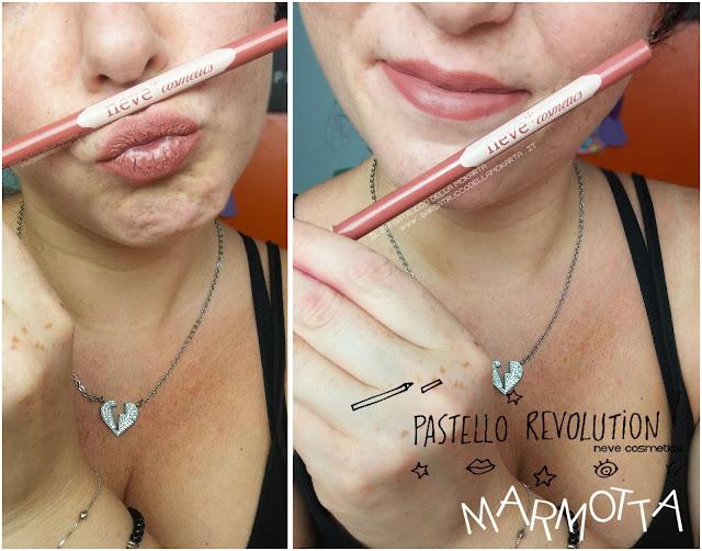marmotta applicazione makeup BioPastello labbra Neve Cosmetics  pastello revolution