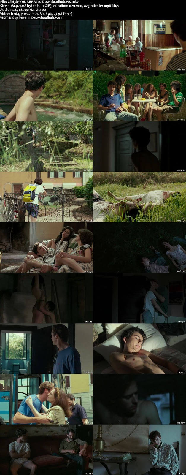 Call Me by Your Name 2017 English 720p BRRip 1GB ESubs